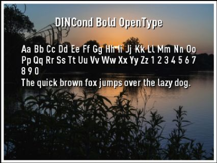 DINCond Bold OpenType Font Preview