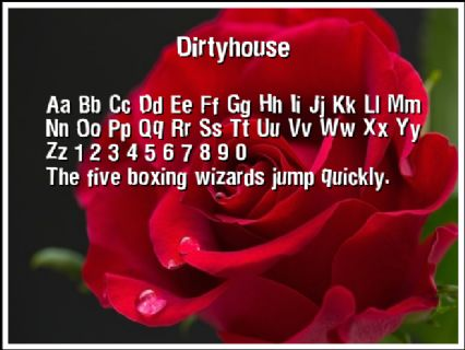 Dirtyhouse Font Preview