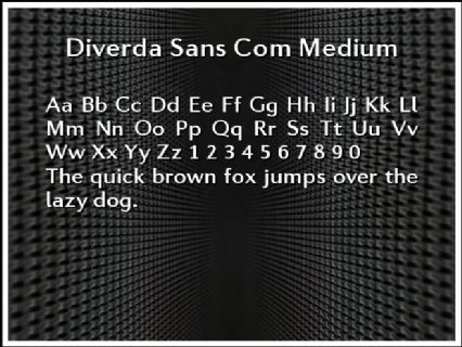 Diverda Sans Com Medium Font Preview