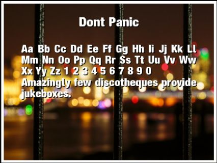 Dont Panic Font Preview