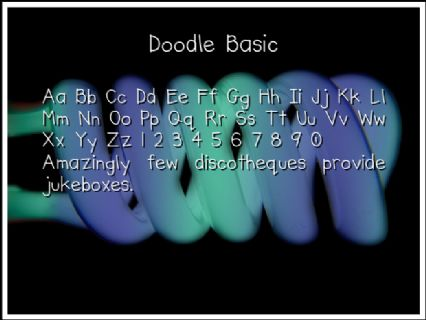 Doodle Basic Font Preview