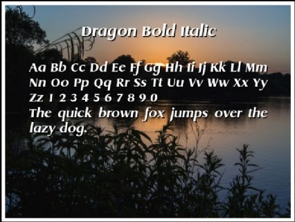 Dragon Bold Italic Font Preview