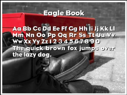 Eagle Book Font Preview