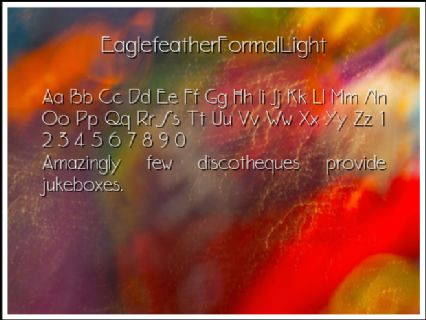 EaglefeatherFormalLight Font Preview
