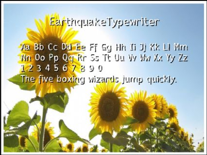 EarthquakeTypewriter Font Preview