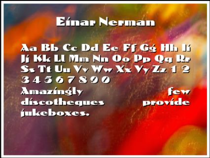 Einar Nerman Font Preview