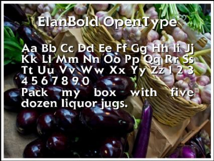 ElanBold OpenType Font Preview