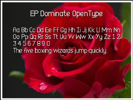 EP Dominate OpenType Font Preview