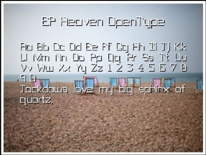 EP Heaven OpenType Font Preview