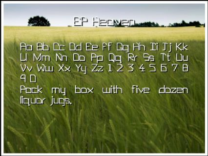 EP Heaven Font Preview