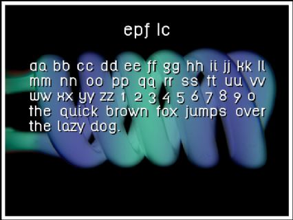 EPF LC Font Preview