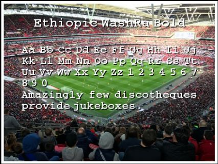 Ethiopic WashRa Bold Font Preview