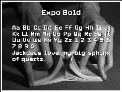 Expo Bold Font Preview