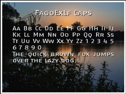 FagoExLf Caps Font Preview