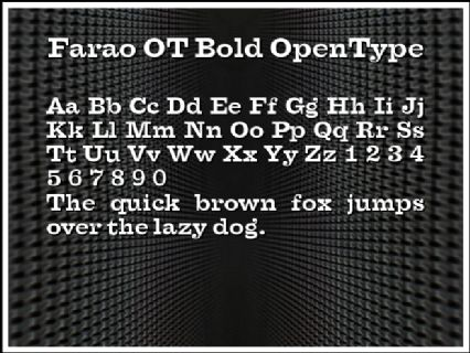 Farao OT Bold OpenType Font Preview