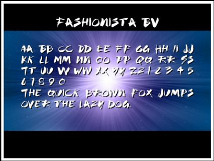 Fashionista BV Font Preview