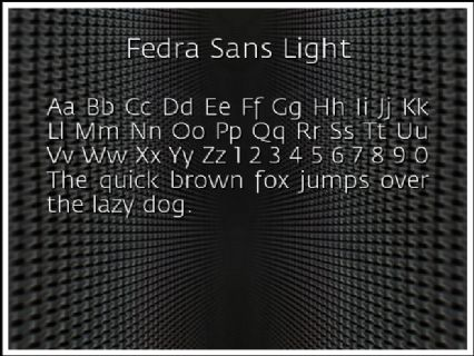 Fedra Sans Light Font Preview