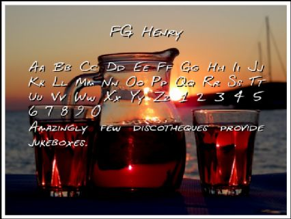 FG Henry Font Preview