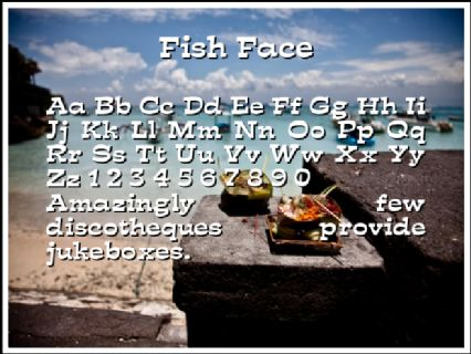 Fish Face Font Preview