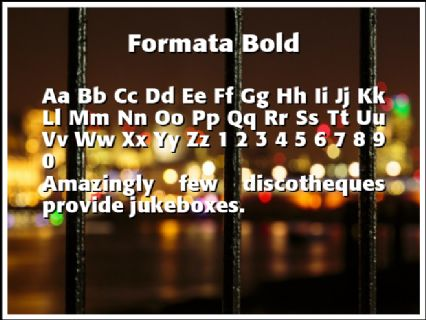 Formata Bold Font Preview