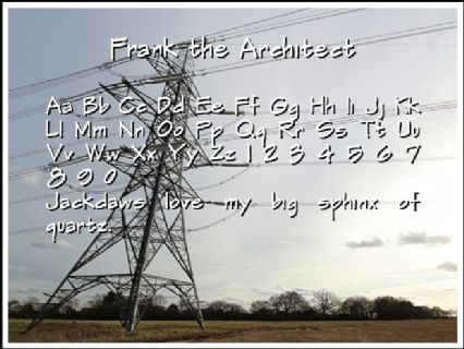 Frank the Architect Font Preview
