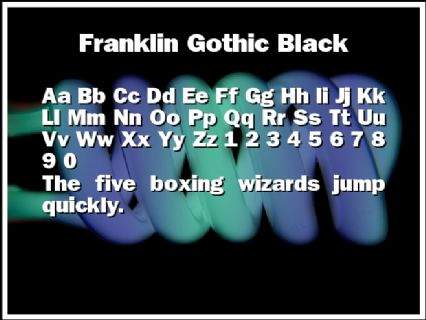 Franklin Gothic Black Font Preview