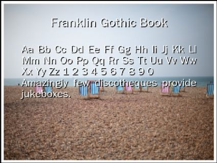 Franklin Gothic Book Font Preview
