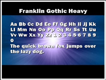 Franklin Gothic Heavy Font Preview