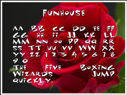 Funhouse Font Preview