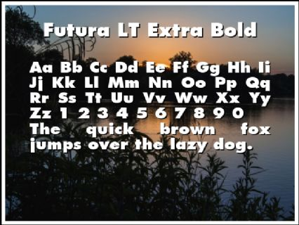 Futura LT Extra Bold Font Preview
