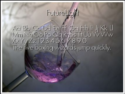 FutureLight Font Preview