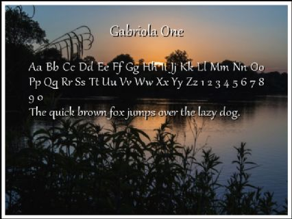 Gabriola One Font Preview