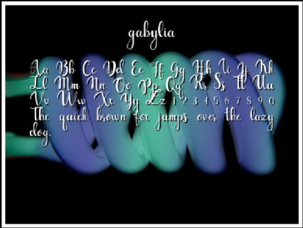 gabylia Font Preview