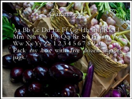 Garamond Font Preview