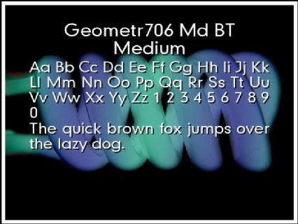 Geometr706 Md BT Medium Font Preview