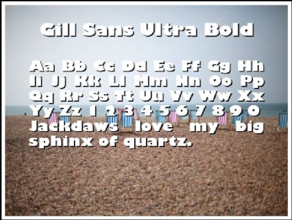 Gill Sans Ultra Bold Font Preview