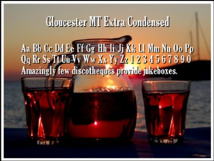 Gloucester MT Extra Condensed Font Preview