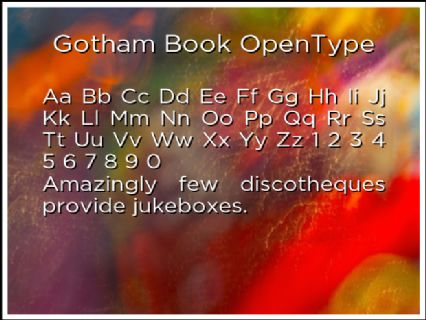 Gotham Book OpenType Font Preview