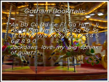 Gotham BookItalic Font Preview