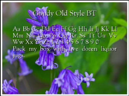 Goudy Old Style BT Font Preview