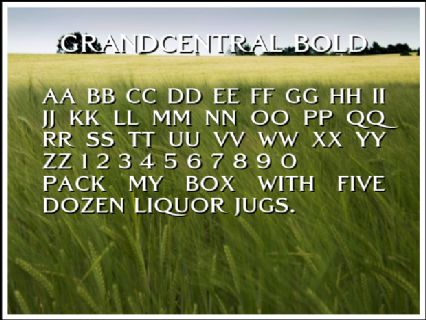 GrandCentral Bold Font Preview