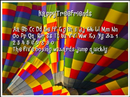 HappyTreeFriends Font Preview