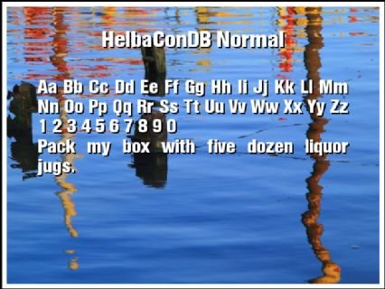 HelbaConDB Normal Font Preview