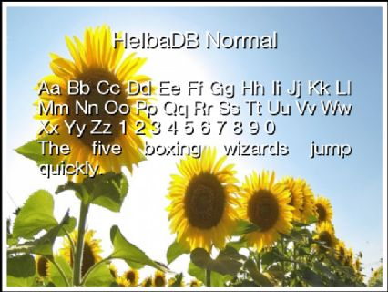 HelbaDB Normal Font Preview