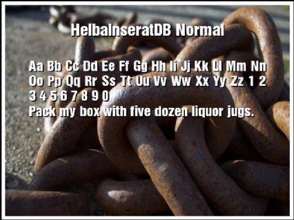 HelbaInseratDB Normal Font Preview