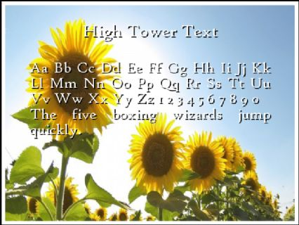 High Tower Text Font Preview