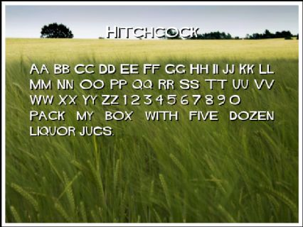Hitchcock Font Preview