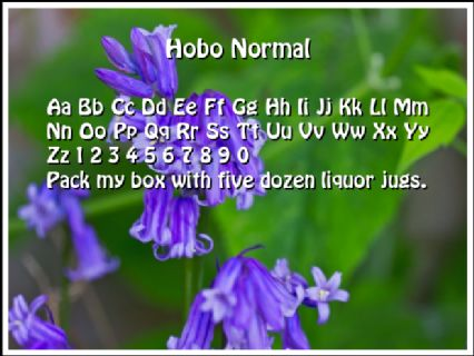 Hobo Normal Font Preview