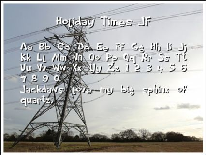 Holiday Times JF Font Preview