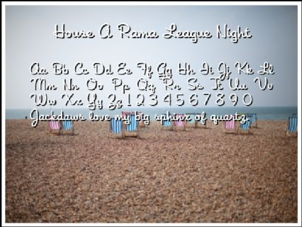House A Rama League Night Font Preview